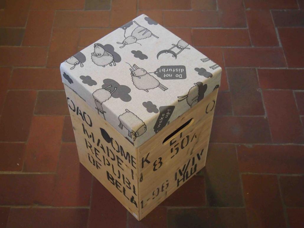 Box mit Sitzkissen